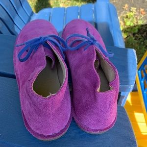 LL Bean Chukka Boots Purple and Blue Size 6
